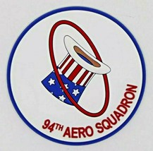 US Army WW1 94th Aero Squadron Hat in the Ring PVC Patch - $15.83