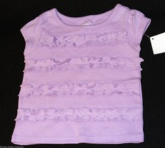 Gymboree 3-6 Months Infant Girl's Purple Ruffled Top Short Capped SLeeve... - $7.99