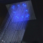 "Primary image for 24"" Recessed Stainless Steel Color Changing LED Rain Shower Head Oil Rubbed Bron"