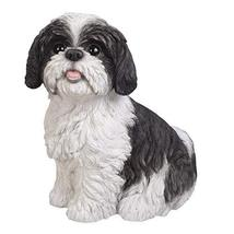 Pacific Giftware Realistic Shih Tzu Statue Glass Eyes Statue Home Decor - $69.29