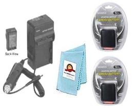 2X Batteries + Charger for Canon HF10, HF100, HF11, HF20, HF200, HF21, HG20 XA10 - $35.99