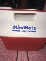 Igloo Minimate ~ Vtg Red White Cooler Personal Lunch 1990s Ice Chest - $12.64