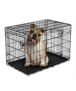 """Vibrant Life Double-Door Folding Wire Dog Crate with Divider, 36""""L - $64.28"""