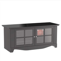Black TV Stand Flat Screen 56 Inch Television Entertainment Center NEW d... - $320.20