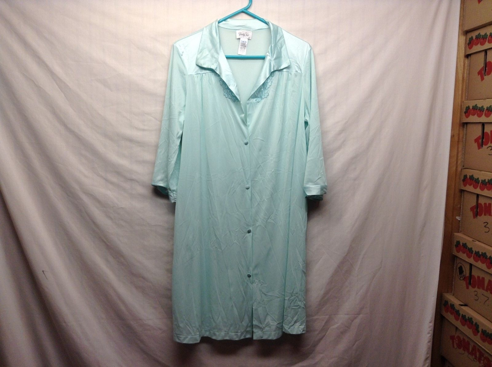 Vintage Vanity Fair Light Green Nightgown Sz M/M