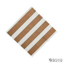 Gold & White Beverage Napkins - $2.49