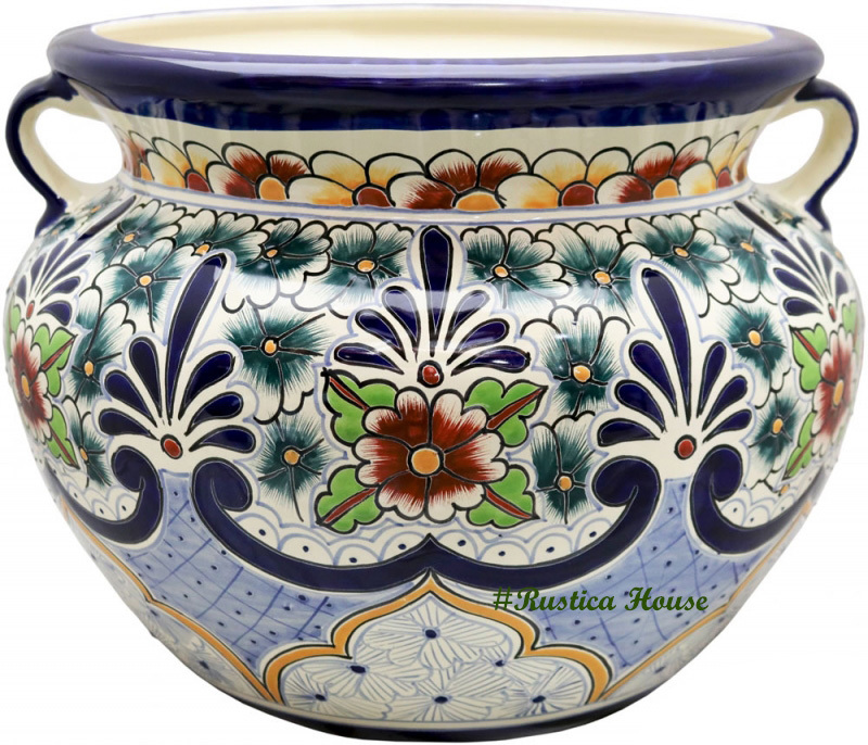 90384 ceramic talavera mexican hand painted planters 1 size1