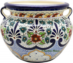 "Small Mexican Flower Planter ""Morelia"" - $75.00"