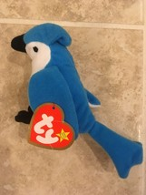 McDonald's Teenie Beanie Baby Rocket the Blue Jay #5 Happy Meal Toy 1993 Vintage - $11.62