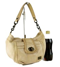Auth Burberry London Blue Label Beige Leather Hobo One Shoulder Hand Bag Purse - $127.71