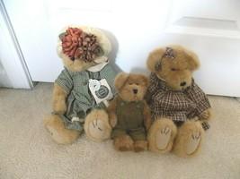 Lot of (3) Boyds Bears w/Tags Emmie Bramblebeary Margaret Hollybeary-FREE SHIP! - $29.67