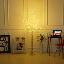 Bolylight LED Birch Tree 6ft 96L LED Christmas Decorations Lighted Tree ... - €66,62 EUR