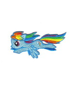 My Little Pony Dash Flying Rainbow Figure Embroidered Patch NEW UNUSED - $7.84