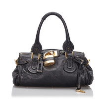 Pre-Loved Chloe Black Others Leather Paddington Handbag France - $345.02
