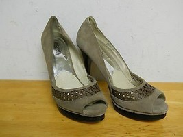 Michael Kors New Display Model Womens Zamara Open Toe Taupe Heels 9 M Sh... - $78.21