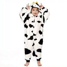 Kid's Milk Cow Kigurumi Pajamas Onesie Pajamas Flannel Toison Black / Wh... - $18.00