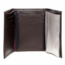 BRAND NEW TOMMY HILFIGER MEN'S LEATHER CREDIT CARD WALLET TRIFOLD BROWN 5676-2 image 6