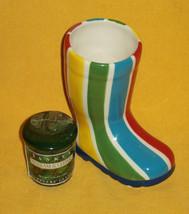 YANKEE CANDLE CO Balsam & Cedar Sampler Candle 1.5 oz. & STRIPED GLASS B... - $14.84