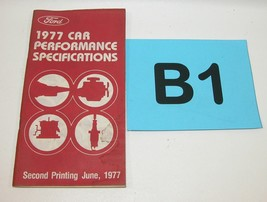 1977 Ford Car Performance Specifications Manual Second Printing June 197... - $24.70