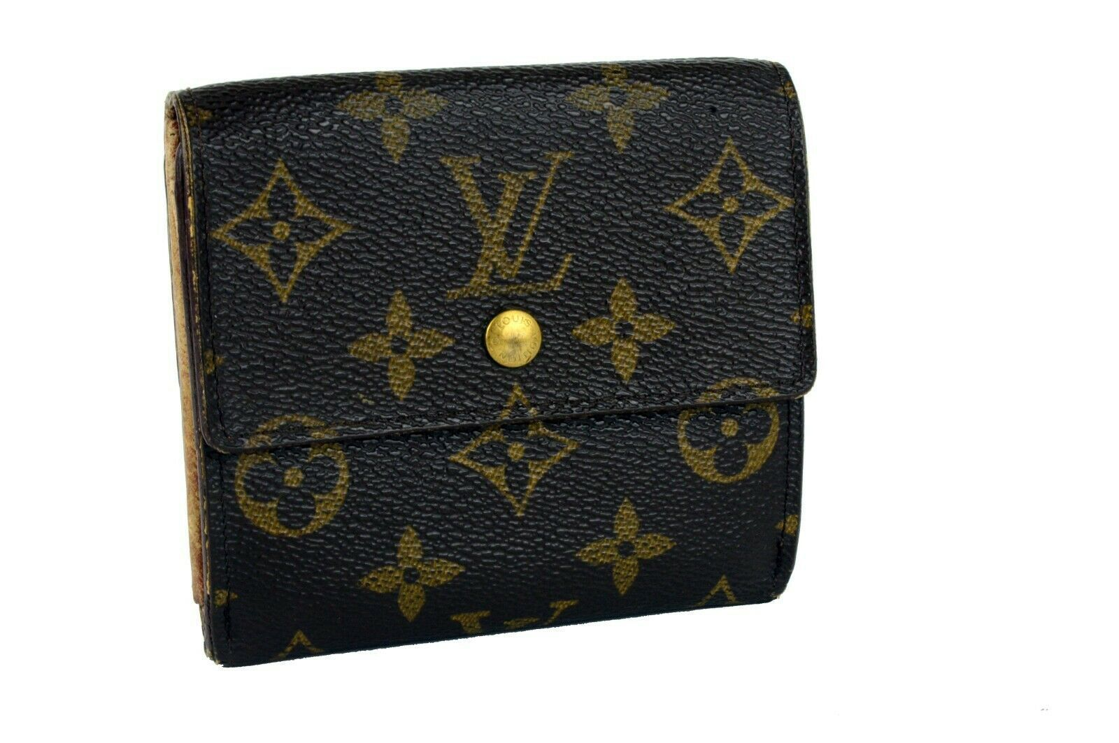Primary image for Authentic Louis Vuitton Monogram Canvas Mini Lin Trifold Small Wallet Purse Used