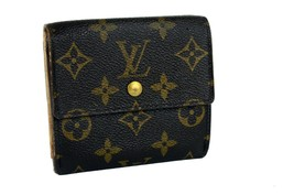 Authentic Louis Vuitton Monogram Canvas Mini Lin Trifold Small Wallet Pu... - $147.51