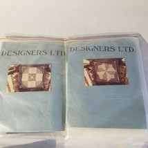 2 Vtg Patchwork Quilt Pillow Kit Designers Ltd. New and Unused USA New H... - $27.79