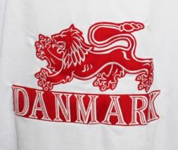 Custom Name # Team Denmark Hockey Jersey New White Any Size image 4