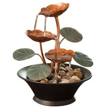 Bits and Pieces Indoor Water Lily Water Fountain-Small Size Makes This A... - $51.11