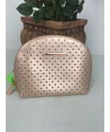 Michael Kors Perforated Cosmetic Bag  Saffiano Leather Rose Gold M6 - $44.09