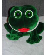 "Smooches The Frog Send Kiss When Press His Tummy Stuffed Animal 11"" Tall - $14.00"