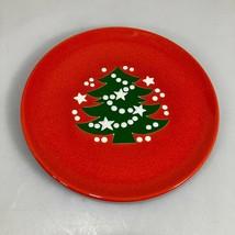 "Waechtersbach Christmas Tree Red Salad Dessert Plate 7.5""  Made in Germany - $23.03"