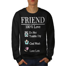 Friend Love Jumper Funny Gift Men Sweatshirt - $18.99+