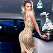 New Runway Arrival Sexy Silver Sequin Sexy Bodycon Summer Party Dress image 5