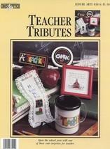 Teacher Tributes Mug Bookmark More Cross Stitch Pattern/Instructions Lea... - $2.67