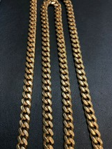 "7.5mm 14k YELLOW GOLD SOLID 30"" MIAMI CUBAN LINK MENS CHAIN  130.8 g - $4,785.00"