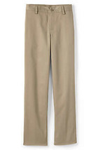 Lands End Uniform Boy Size 18 Slim 30 Inseam Blend Plain Front Chino Pan... - $15.00