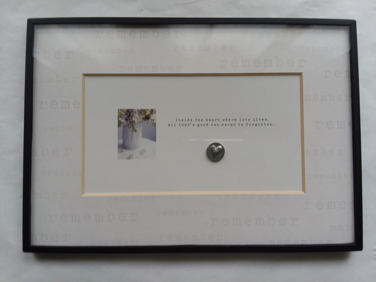 "Remember Love Gift Picture Framed Plaque Wall Hanging 12 1/2"" x 8 3/4"" Hallmark"