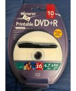 Memorex 10 Pack DVD+R - 4.7GB 120 Minutes - Bonus Marker - BRAND NEW - $4.00