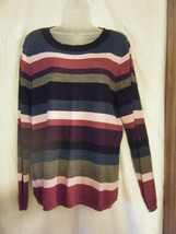 Charter Club Striped Scoop Neck Sweater - Size XL - $12.75