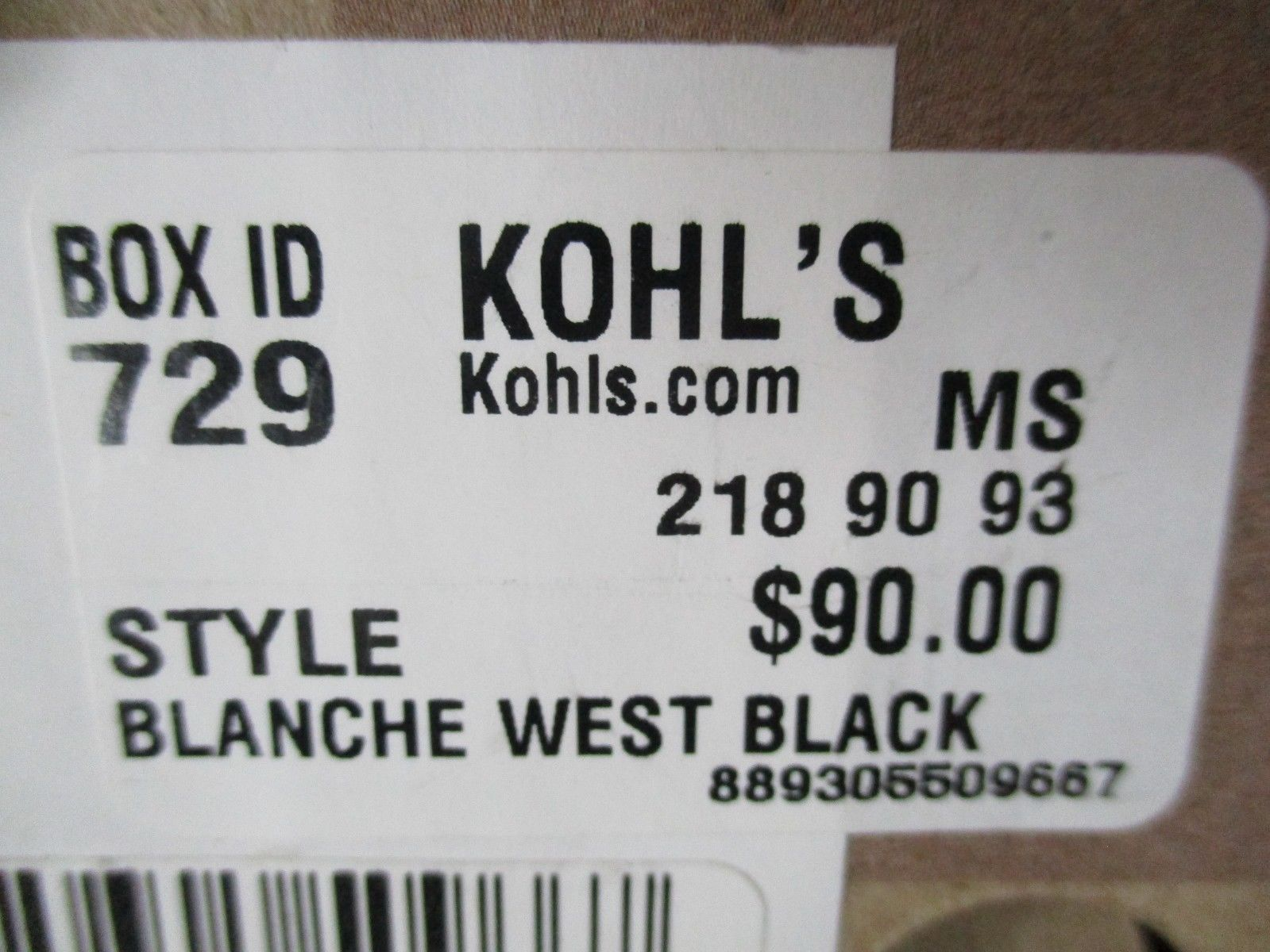 BNIB Clarks Blanche West Women's Flats, black, size 7M, ships w/o box, $90