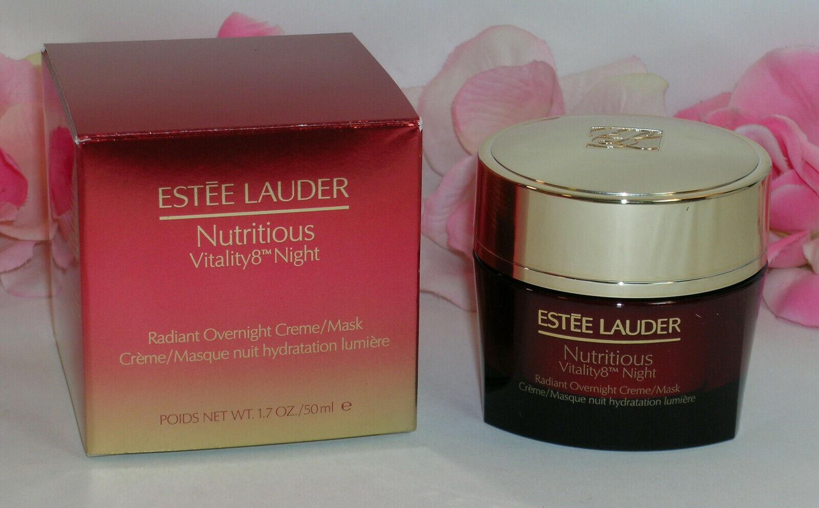 Primary image for New Estee Lauder Nutritious Vitality8 Radiant Overnight Creme / Mask 1.7oz 50 ml