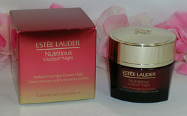 New Estee Lauder Nutritious Vitality8 Radiant Overnight Creme / Mask 1.7oz 50 ml - $49.99