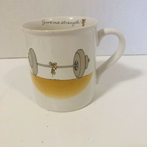 "Hallmark Rim Shots Coffee Mug Cup ""Give Me Strength"" Mouse Weights Vinta... - $13.85"