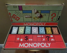 Vintage 1961 MONOPOLY Parker Brothers Board Game EXTRA Game PIECES ~Inco... - $22.00