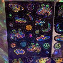 VINTAGE Lisa Frank Sticker Sheet ZOOMER AND ZORBIT with Flaws but COMPLETE image 3