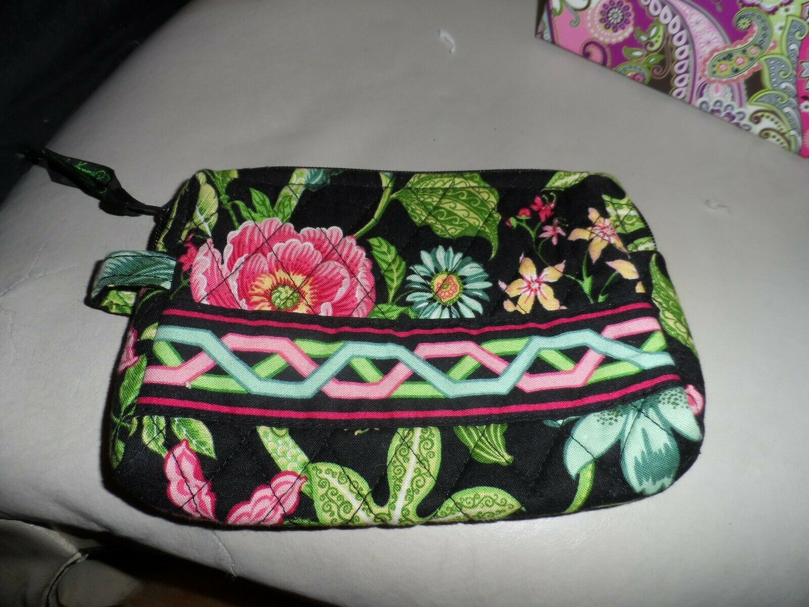Primary image for Vera Bradley small cosmetic in retired Botanica pattern