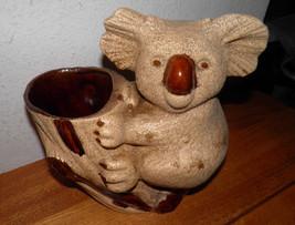 Vintage ROYAL HAEGER Brown Texture Art Pottery Koala Bear Planter Vase S... - $35.97