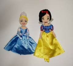 "Disney princess plush doll lot Cinderella & Snow White 10"" & 12"" - $19.35"