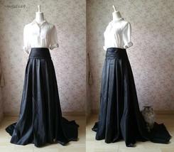 Dressromantic High/low Maxi Ball Evening Skirt- Black, high waisted, pockets image 3