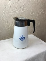 Vintage Corning Ware 9-Cup Stove Top Percolator COMPLETE Blue Cornflower... - $32.68